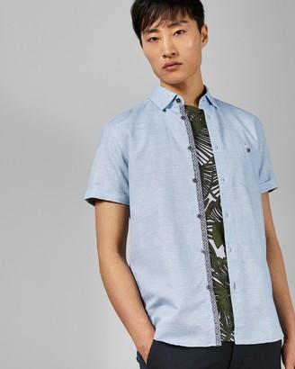 Ted Baker CLION Short sleeved linen blend shirt