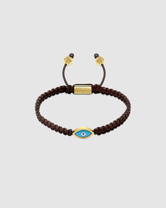 Nialaya Jewellery Men's String Bracelet with Evil Eye