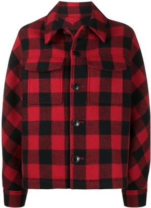 Ami Checked Buttoned Jacket