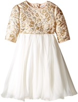 Dolce & Gabbana Floral Broccade Dress (Toddler/Little Kids)