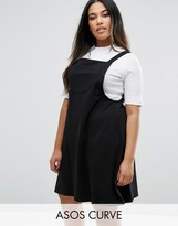 Asos Column Pinafore Dress