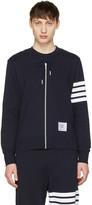 Thom Browne Navy Trompe L'Oeil Zip-Up Hoodie Pullover