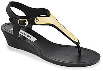 Steve Madden Flippper Metallic-Detail Wedge Sandals