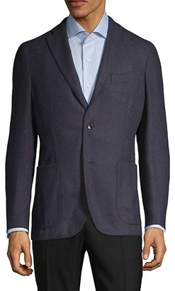 Boglioli Standard-Fit Textured Weave Wool-Blend Sportcoat