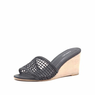 Kaanas womens Pipa With Braided Fishnet Upper Wedge Sandal