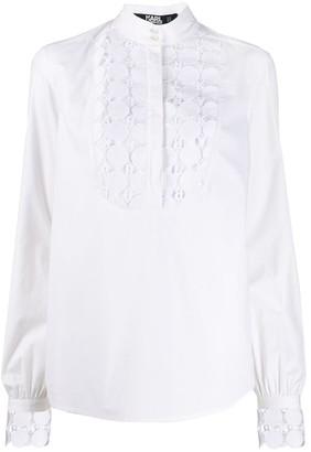 Karl Lagerfeld Paris lace plastron shirt
