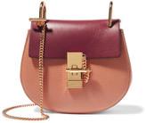 Chloé Drew Mini Textured-leather Shoulder Bag - Plum