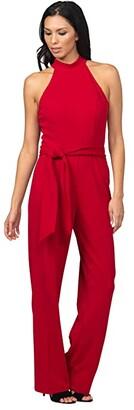 Bebe Scuba Crepe Jumpsuit (Olive) Women's Jumpsuit & Rompers One Piece