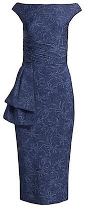 Chiara Boni Cassie Flowers Draped Dress