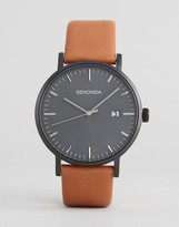 Sekonda Minimalist Tan Leather Watch With Gray Dial Exclusive To ASOS