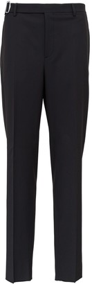 Valentino Tauilored Trousers In Tech Wool With Belt And Buckle Detail