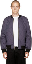 Levi's Navy Quilted Zip Bomber Jacket