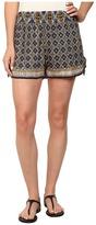 Angie Print Elastic Waist Shorts