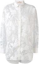 Mantu sheer floral pattern shirt