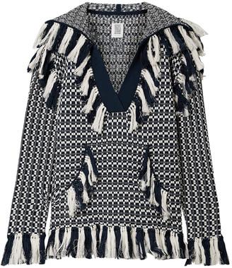 Rosie Assoulin Tasseled Cotton-jacquard Hooded Sweater
