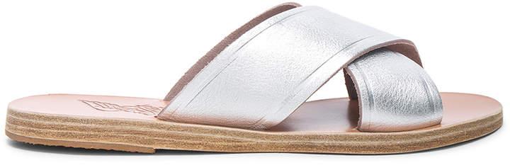 Ancient Greek Sandals Metallic Leather Thais Sandals