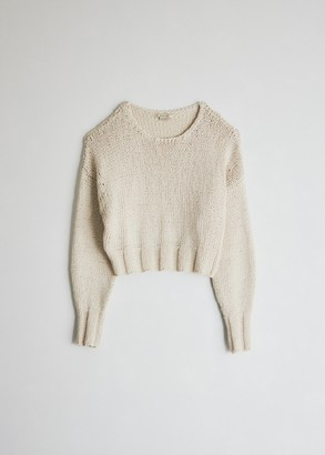 Off-White Paloma Wool Women's Tratame Knit Pullover Sweater in Off-White, Size Large | 100% Cotton