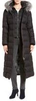 Soia & Kyo Down Maxi Coat with Genuine Fox Fur Trim Hood