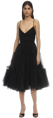 Brognano Low Back Tulle Midi Dress