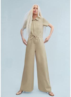 Christina G. Label Wide-Leg Shirt Jumpsuit