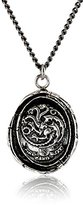 Pyrrha Unisex For HBO's Game of Thrones Silver House Targaryen Necklace, 22""
