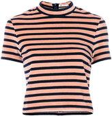 Alexander Wang striped crop top - women - Cotton/Polyester - S