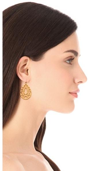 Juicy Couture Openwork Teardrop Earrings