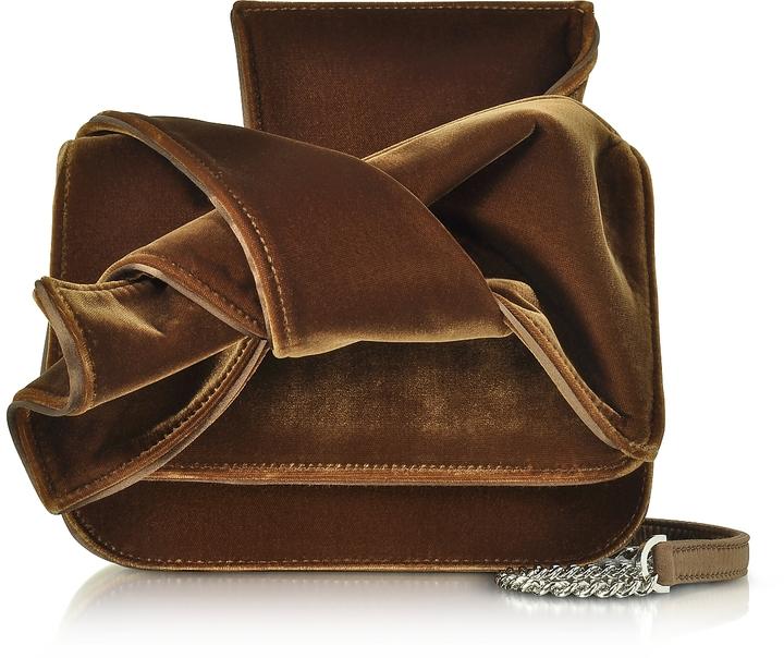 N°21 Mini Velvet Bow Shoulder Bag