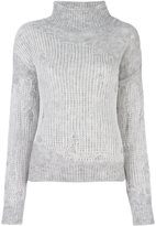 Diesel frayed net panel sweater