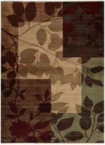 Tribeca Heat Set Floral 5-Foot 3-Inch x 7-Foot 2-Inch Area Rug in Multi