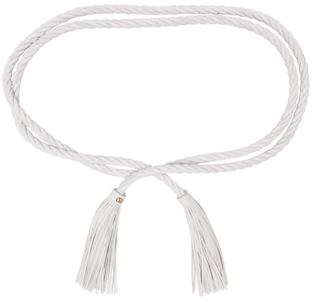 Valentino White Garavani VLogo Braided Belt