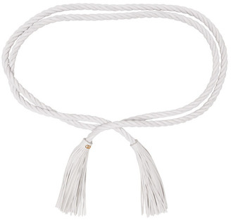 Valentino White Garavani VLogo Braided Belt