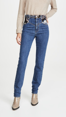 Stella McCartney Retro Stone Blue Jacquard Trousers