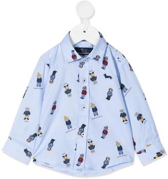 Harmont & Blaine Junior Dog-Print Long-Sleeve Shirt
