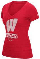 adidas Women's Wisconsin Badgers Football Tee
