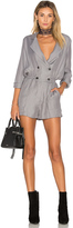 Greylin Ria Shirt Wrap Over Romper