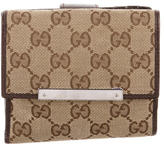 Gucci GG Canvas Compact Wallet