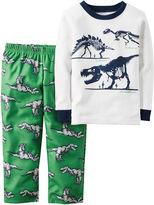 Carter's 2-pc. Green Dinosaur Fleece Pajama Set - Baby Boys newborn-24m