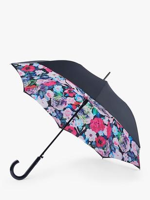 Fulton Bloomsbury Floral Umbrella, Black/Multi