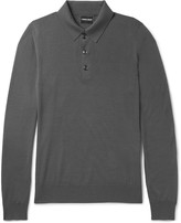 Giorgio Armani Virgin Wool Polo Shirt