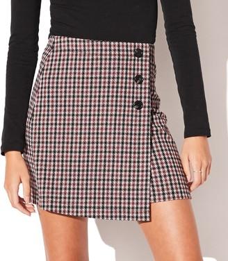Juniors' Vylette Side Button A-Line Mini Skirt