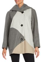 Gallery Colorblock Woolen Coat
