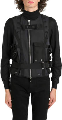 Christian Dior Military Vest In Tech Mesh