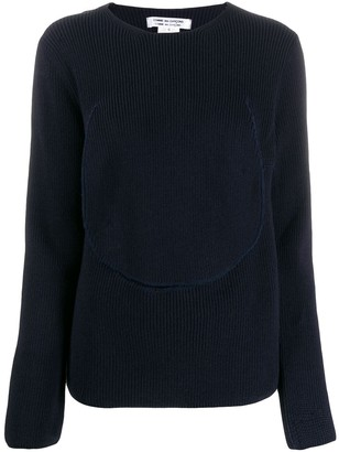 Comme des Garcons ribbed knit cut-out jumper