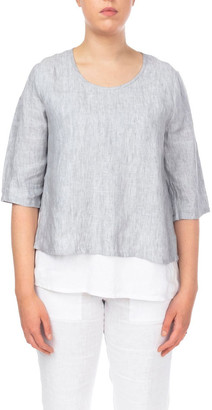Jump Double Layer Linen Top