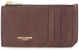 Saint Laurent Fragments zipped cardholder