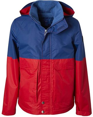 Perry Ellis Boys' Windbreakers and Shell Jackets SCARLET - Scarlet & Blue Color Block Fleece-Lined Anorak - Toddler & Boys