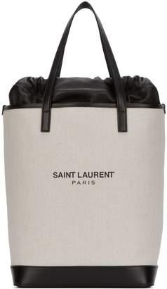 Saint Laurent Canvas Tote Bag