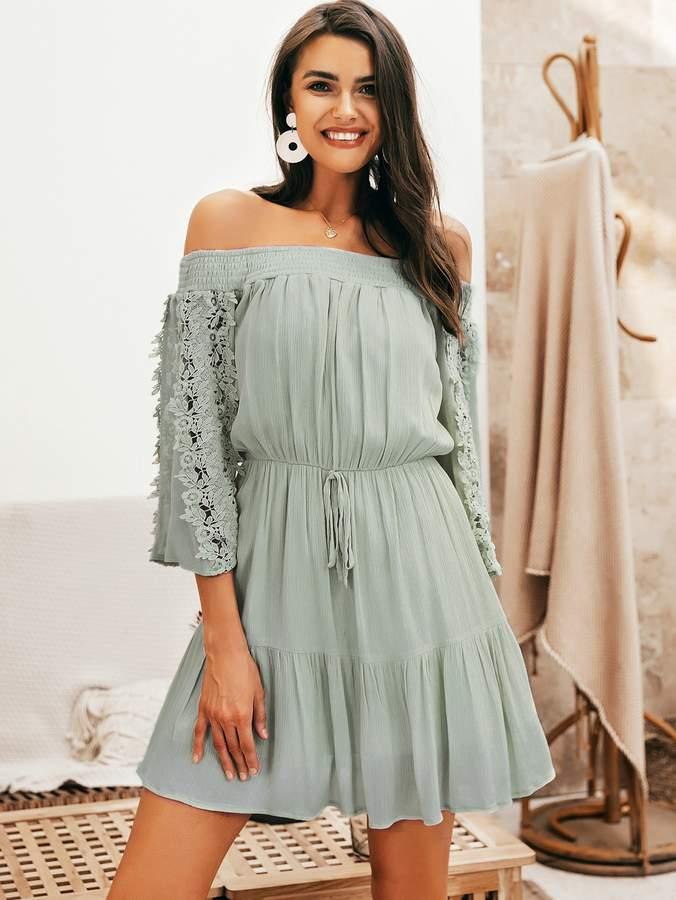 80fb859e Green Ruffle Hem Dresses - ShopStyle
