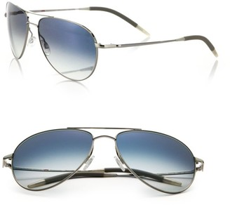 Oliver Peoples Benedict 59MM Chrome Aviator Sunglasses